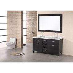 citrus dark espresso 48 inch double sink vanity set design element vanities bathroom vanit