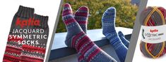 Learn how to knit a pair of identical socks - Tricot Knitted Gloves, Knitting Socks, Knit Socks, Tube Socks, Learn How To Knit, Creative Inspiration, Printed Shirts, Lana, Pairs