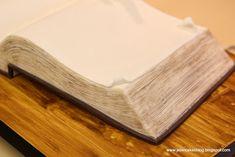 How to make a book cake.