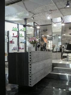 Táňa Kmenta Hair Studio by Studio Muon-- a really chic warehouse/ dungeon salon