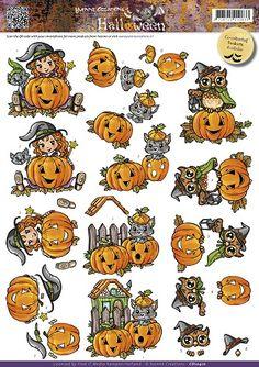 3D Knipvel - Yvonne Creations - Halloween - Pumkins Ikkie creatief