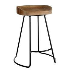 Smart and Sleek Stool - Short - traditional - bar stools and counter stools - Wisteria Dining Stools, Kitchen Stools, Counter Stools, New Kitchen, Counter Top, Kitchen Ideas, Cafe Counter, Kitchen Redo, Kitchen Island