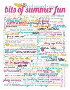 101 summer ideas