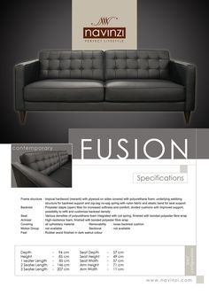 fusion Polyurethane Foam, Hardwood, Divider, Cushions, Sofa, Fabric, Furniture, Throw Pillows, Tejido