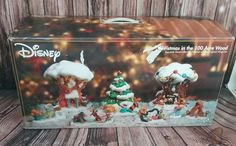 Disney Store Christmas 100 Acre Wood lighted Christmas porcelain village Pooh  | Collectibles, Disneyana, Contemporary (1968-Now) | eBay!