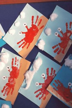 result of creative ideas for children in summer kg - craft ideas - Craft ideas; result of creative ideas for children in summer kg result - Ocean Crafts, Baby Crafts, Toddler Crafts, Baby Handprint Crafts, Toddler Art Projects, Footprint Crafts, Toddler Food, Toddler Activities, Preschool Activities