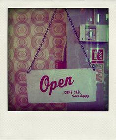 Cute open sign Closed Signs, Open Signs, Sandwich Board, Cafe Menu, Dream Studio, Store Displays, Coping Skills, Wall Patterns, Sign Design