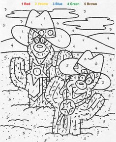 color by number coloring pages | free Cactus color by number in NATURE Color by Number coloring pages ...
