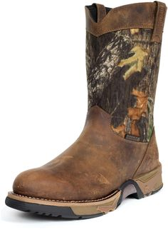 Rocky Mens Brown Leather Aztec Waterproof Camo Pull On Cowboy Boots Hunting Boots, Hunting Clothes, Cowboy Up, Cowboy Boots, Camo Shoes, Masculine Style, My Prince Charming, Country Outfitter, Wellington Boot