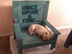 Fairy tale chair, educational woodwork, early years, scrollsaw writing
