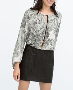 ZARA - WOMAN - LEATHER MINI SKIRT
