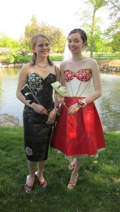 Duck tape dresses for prom Nice Dresses, Prom Dresses, Amazing Dresses, Formal Dresses, Duck Tape Dress, Duct Tape Clothes, Recycled Dress, Duct Tape Crafts, The Dress