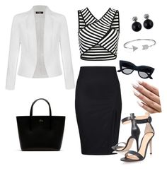 """""""Untitled #4"""" by em03071999 ❤ liked on Polyvore featuring Gianvito Rossi, Ally Fashion, Lacoste and Bling Jewelry"""