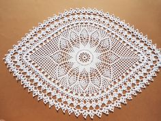 Oval crochet doily, white oval doily, large doily, lace doily by kroshetmania on Etsy