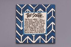 This 10x10 Southern canvas piece is the perfect size to hang on a wall or just place on a plate stand, and add a little southern charm to any room!  Find this and other great items at #thelemontree in #milledgeville or visit www.facebook.com/thelemontreemilledgeville