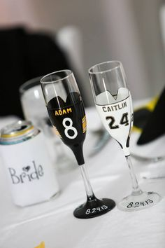 Wedding Reception Themes, Our Wedding, Dream Wedding, Football Wedding, Gold Weddings, Pittsburgh Sports, Toasting Flutes, Big Day, Party Planning