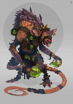 Rats,by Alexander Trufanov Fantasy Races, Fantasy Warrior, Fantasy Rpg, Fantasy Artwork, Creature Concept Art, Creature Design, Fantasy Inspiration, Character Design Inspiration, Dnd Characters