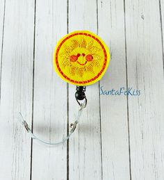 Sun Felt ID Badge Holder with Retractable Reel by SantaFeKiss