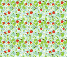 Strawberry fields forever fabric by irrimiri on Spoonflower - custom fabric