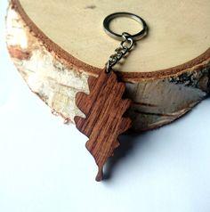 Oak Leaf Wooden Keychain Walnut Wood Oak Tree by PongiWorks Wooden Keychain, Realtor Gifts, Key Organizer, Oak Tree, Woodworking Ideas, Key Chains, Walnut Wood, Hobbies And Crafts, Wood Working