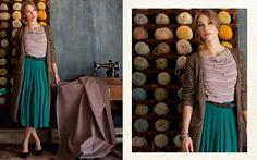 Fall 2011 fasion trends. Long skirt, long sweater.
