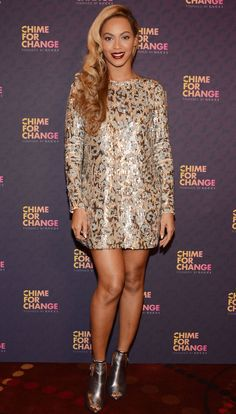 Beyonce performs at a Chime for Change event.