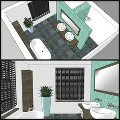 home office design Hidden shower and toulet