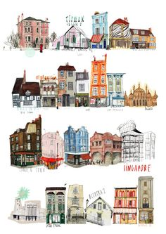 London art by Nina Cosford