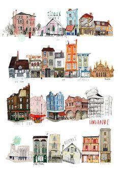 London art by Nina Cosford