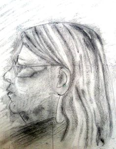Jenny's drawing of a fellow student on her fourth day of the course.