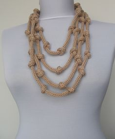 Knit Necklace.