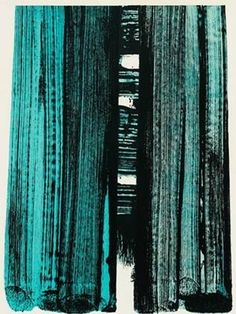 Lithograph No. 42 by Pierre Soulages at Bernard Jacobson Gallery (IFPDA) - Printed Editions - Ref 28473 Abstract Expressionism, Abstract Art, Abstract Paintings, Action Painting, Landscape Artwork, Art Walk, Art Abstrait, Art Graphique, French Artists