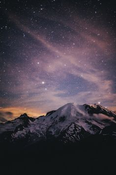 foresity:  Chasing Stars at Mount Rainier (by Jared Atkins)