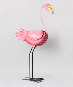 Pink Turned Flamingo Sculpture | Flamingo