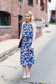 midi-length summer dress