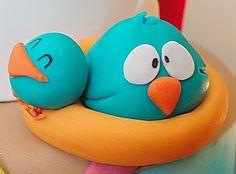 El Laboratorio de las Tartas: Tarta Pocoyó - Pocoyo Cake Fondant Figures, Clay Figures, 2nd Birthday Parties, 4th Birthday, Birthday Cakes, Biscuit, Lalaloopsy Party, Fondant Tutorial, Cake Designs