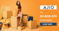 #Ajio surprise Fashion Sale - 50% - 80% Discount on all Fashion. Avail this offer now from https://www.klaimy.com/ajio-coupons Grab more offers from #Klaimy