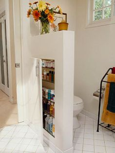 Smart! Short walls are also called pony walls or knee walls cut into them to create untapped storage space.