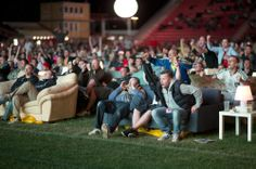 Berlin Stadium turned into an outdoor lounge for the World Cup