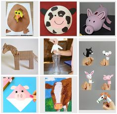 Farm animals - knowledge and handicrafts - Cool Crafts Animal Crafts For Kids, Diy For Kids, Wild Animals Videos, Preschool Craft Activities, Wild Animals Photography, Animal Worksheets, Post Animal, Paper Plate Crafts, Animal Wallpaper