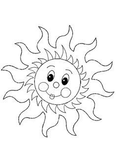 Cute Sun Coloring Pages Free: Cute Sun Coloring Pages Free