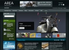 Autodesk Area Web Site Featured On Front Page, 21st September 2011