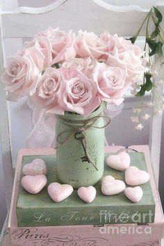 Dreamy Shabby Chic Pink Roses