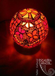 Mosaic Art, Mosaics, Mosaic Bowling Ball, Mosaic Bottles, Moroccan Furniture, Olive Oil Bottles, Glass Blocks, Garden Art, Stained Glass