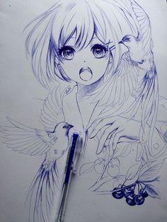 Pin by pynsanborjana on sketches and drawings in 2019 Amazing Drawings, Cool Drawings, Amazing Art, Anime Chibi, Manga Anime, Anime Art, Art Manga, Manga Drawing, Art Kawaii