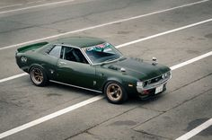 Witness the greatest RA21 Daruma Celica in its natural habitat with aToyota Works 152E twin cam race motor. rolling on deep dish bronze,inc...