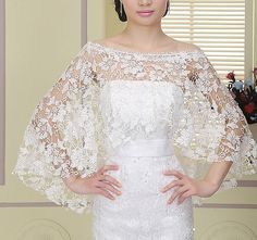 bridal lace top wedding top bridal cover up by happyshoppingmall