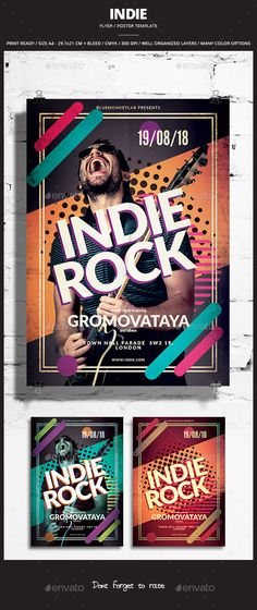 Indie Flyer / Poster Template PSD