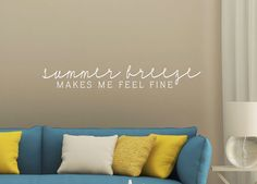 Summer Breeze Decal - Family Wall Decal - Wall Quotes - Beach Wall Decor - Vinyl Lettering - Love Wall Decal - Coastal Charm - Island Life IS YOUR FAVORITE SEASON SUMMER?! King Beds, Queen Beds, Beach Wall Decor, Love Wall, Family Wall, Summer Breeze, Vinyl Lettering, California King Bedding, Wall Decals