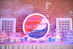 "For Pepsi's ""We (Heart) Pop"" Grammy party at Carondelet, guests helped themselves to an on-brand sweets bar. Pepsi's signature colors played... Rodriguez/WireImage"